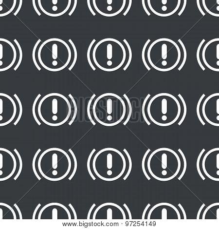 Straight black alert sign pattern