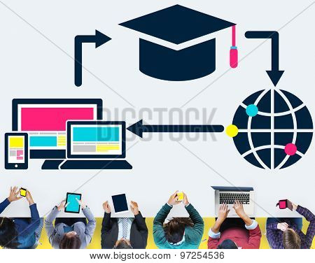 Global Education Study Information Knowledge Searching Concept