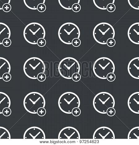 Straight black add time pattern
