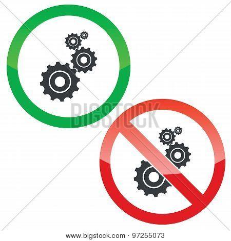 Adjust permission signs set