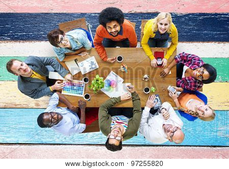 Group of Diverse Designers Having a Meeting Concept