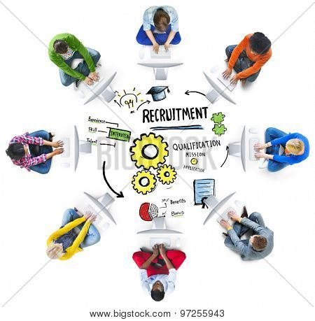 Ethnicity Business People Communication DIscussion Recruitment Concept