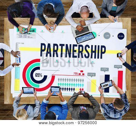 Partnership Teamwork Union Collaboration Agreement Concept