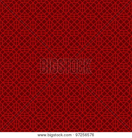 Seamless Chinese style window tracery square polygon geometry pattern background.
