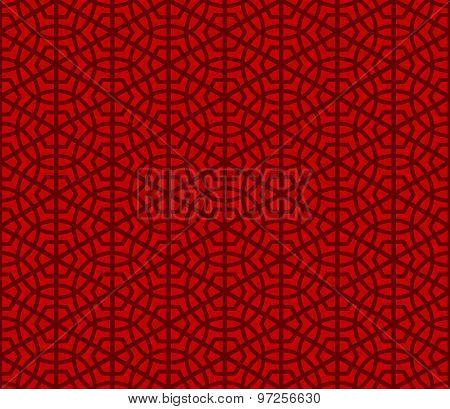 Seamless Chinese round polygon geometry pattern background.