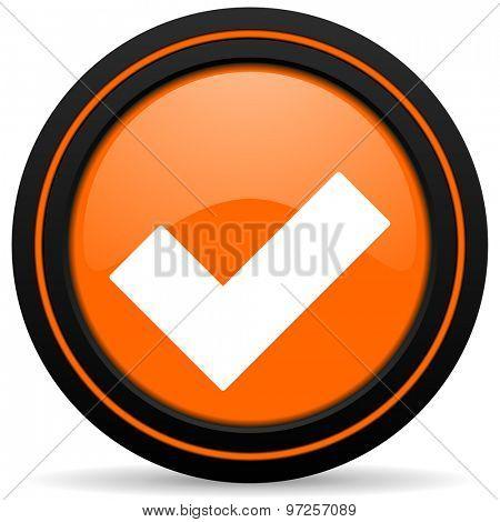 accept orange icon check sign