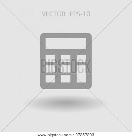 Flat icon of calculator