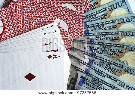 Cards and dollars