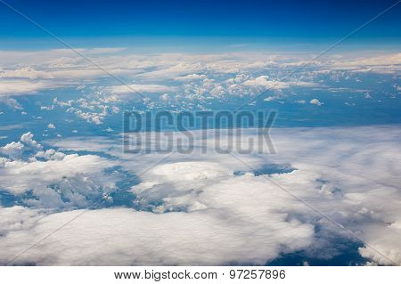 Sky, Clouds And Land Background