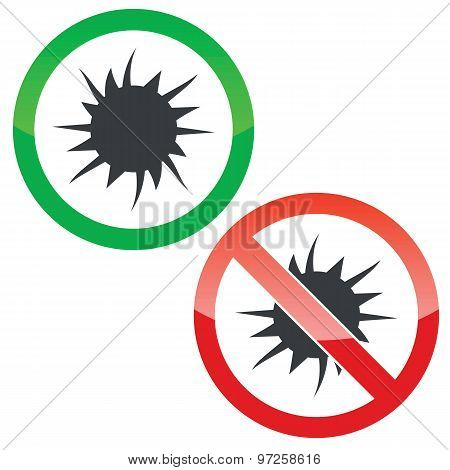 Starburst permission signs set