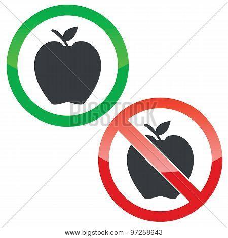 Apple permission signs set
