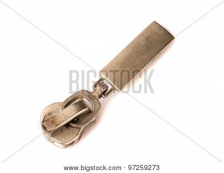 Locking Zipper Isolated On A White Background