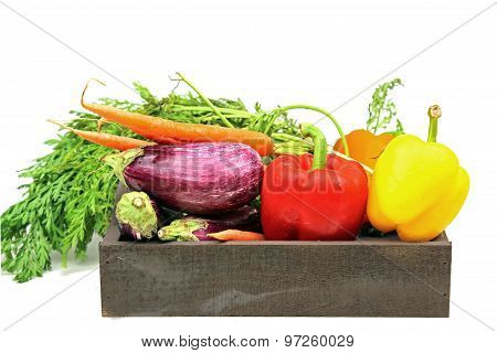 A Tray Of Fresh Vegetables