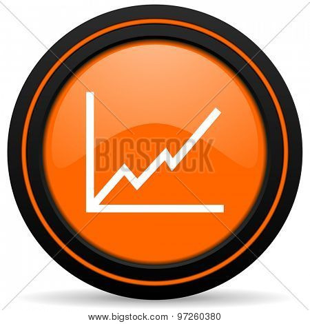 chart orange icon stock sign