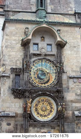 Tower Orloj In Prague