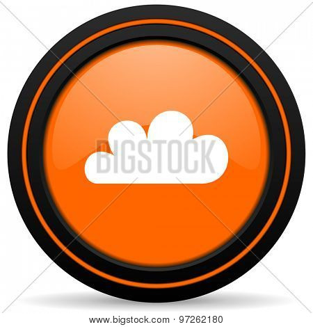 cloud orange icon weather forecast sign