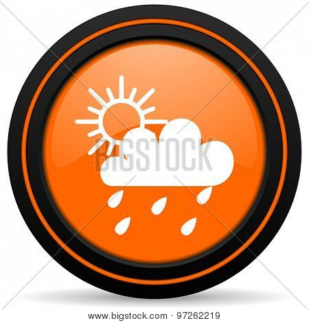 rain orange icon weather forecast sign