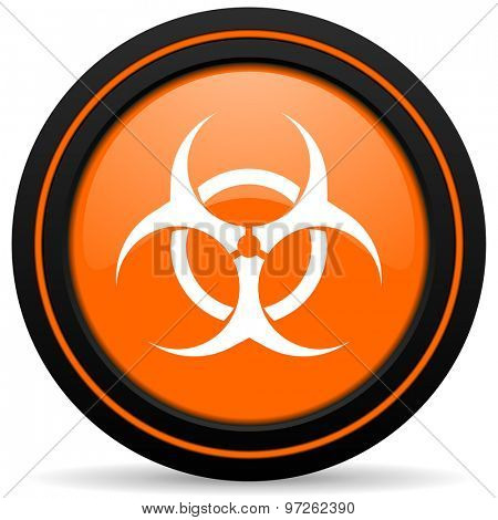 bio hazard orange icon virus sign