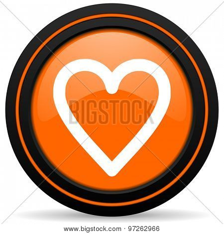 heart orange icon love sign