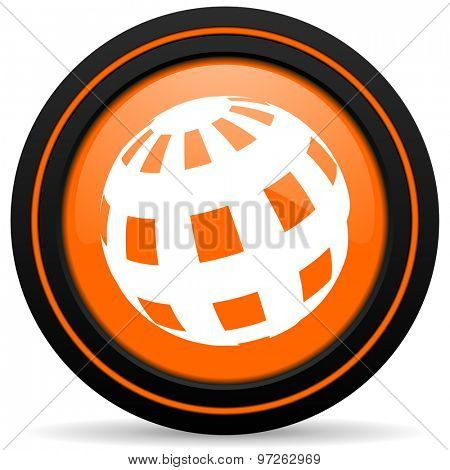 earth orange icon