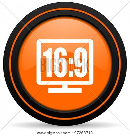 16 9 display orange icon