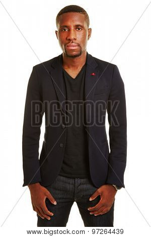 African man as apprentice in a suit