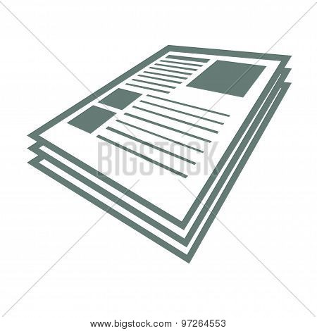 Scientific Articles  -  Stock Illustration