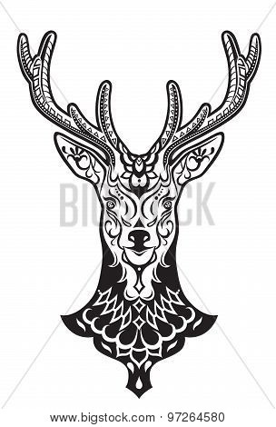 Ethnic Ornamented Deer