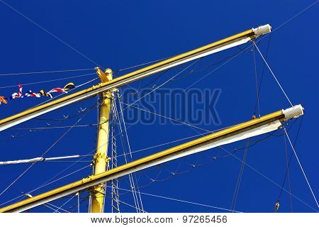 Masts of sailing ship