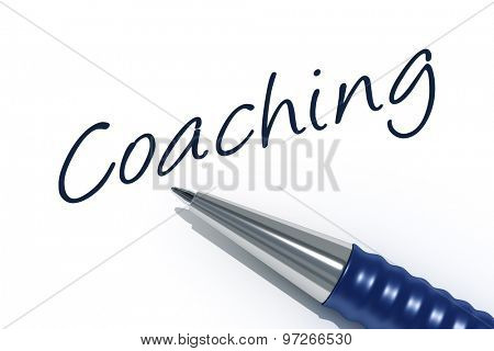 An image of a pen with the message coaching