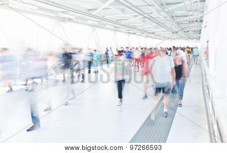 people moving long exposure camera shot