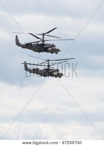 Two Military Helicopters, The Russian Air Force