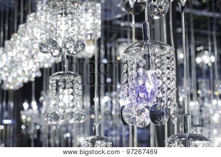 Crystal Of Modern Chandelier Lamp  In Light