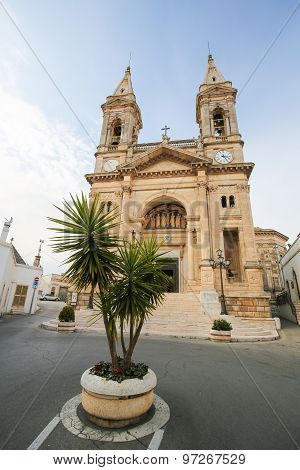 Santi Medici Church In Alberobello, Puglia, Italy