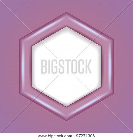 3D hexagonal frame. Vector illustration.