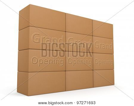 Grand Opening design for packaging or shipping services
