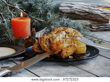 Baked chicken for Christmas