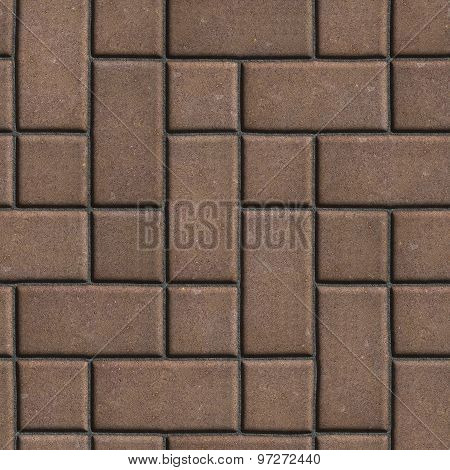Brown Paving  Slabs Imitates Natural Stone.