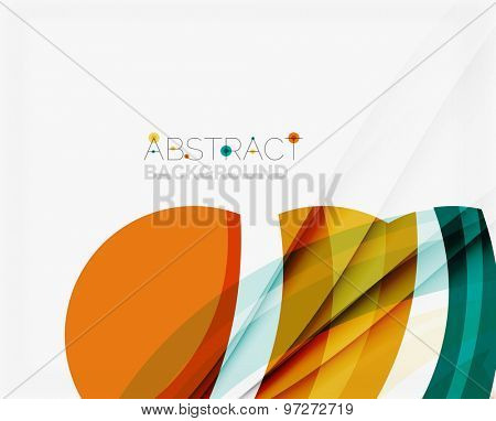 Blue and orange color shapes. Abstract background,  illustration for your message