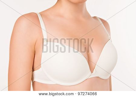 Girl's White Bra