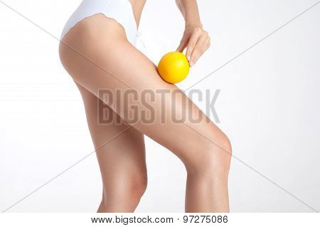 Slim Legs With Orange.