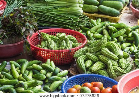 Various Vegetables On The Market