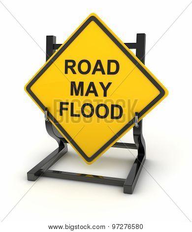 Road Sign - Road May Flood