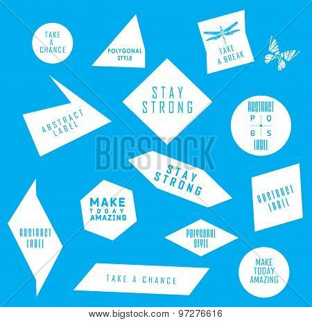 Abstract labels with Quote infographic