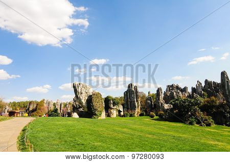 Stone forest in spring in Kunming, China