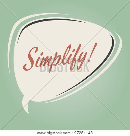 simplify retro speech bubble