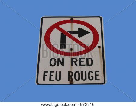 Bilingual No Turning Right