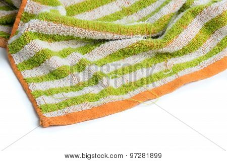 Frayed Colorful Towel