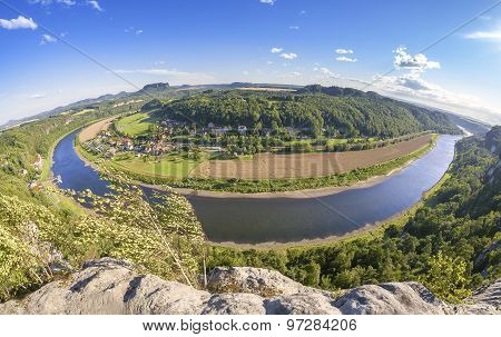 Fisheye Lens Photo Of Rathen, Germany.