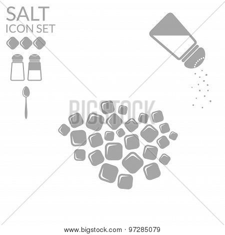 Salt. Icon set